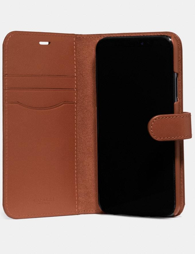 Coach iPhone X/Xs Folio Saddle Women Accessories Tech & Work Alternate View 1