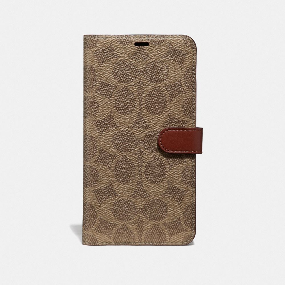 iphone 7 plus/8 plus folio in signature leather