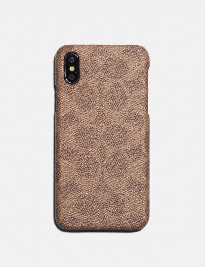 Coach iPhone X/Xs Case in Signature Canvas Khaki Women Edits Your Life, Your Coach