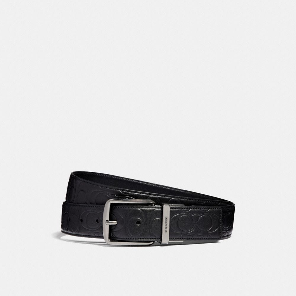 Coach Harness Cut-To-Size Reversible Signature Leather Belt