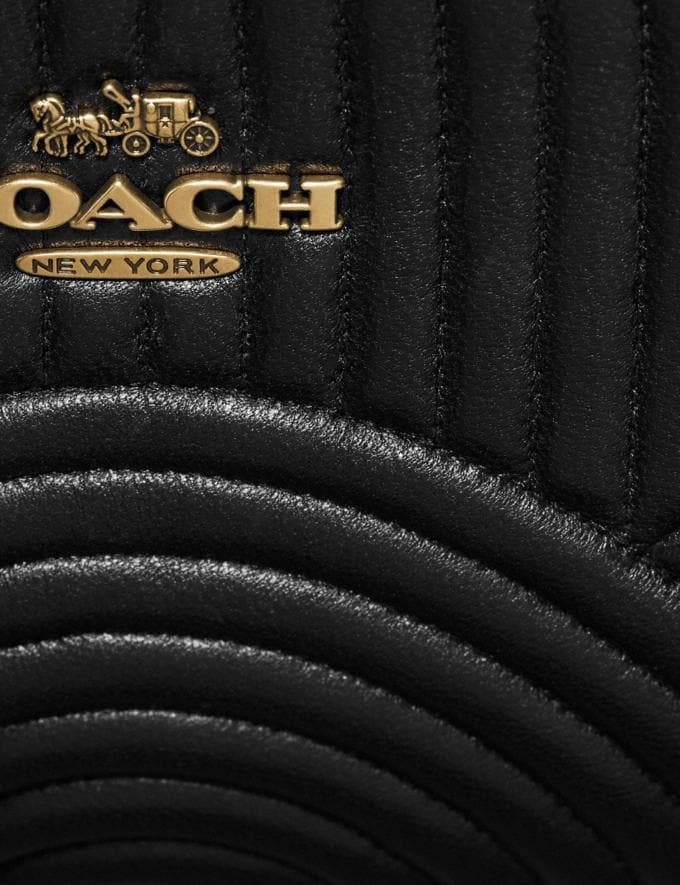Coach Belt Bag With Deco Quilting Black/Brass Women Handbags Belt Bags Alternate View 5