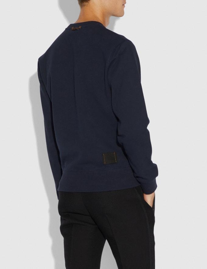 Coach Rexy Sweatshirt Navy Men Ready-to-Wear Tops & Bottoms Alternate View 2