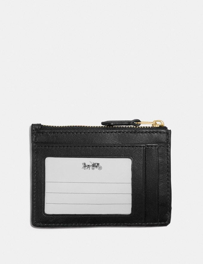 Coach Mini Skinny Id Case in Signature Leather Gd/Black Women Small Leather Goods Small Wallets Alternate View 1