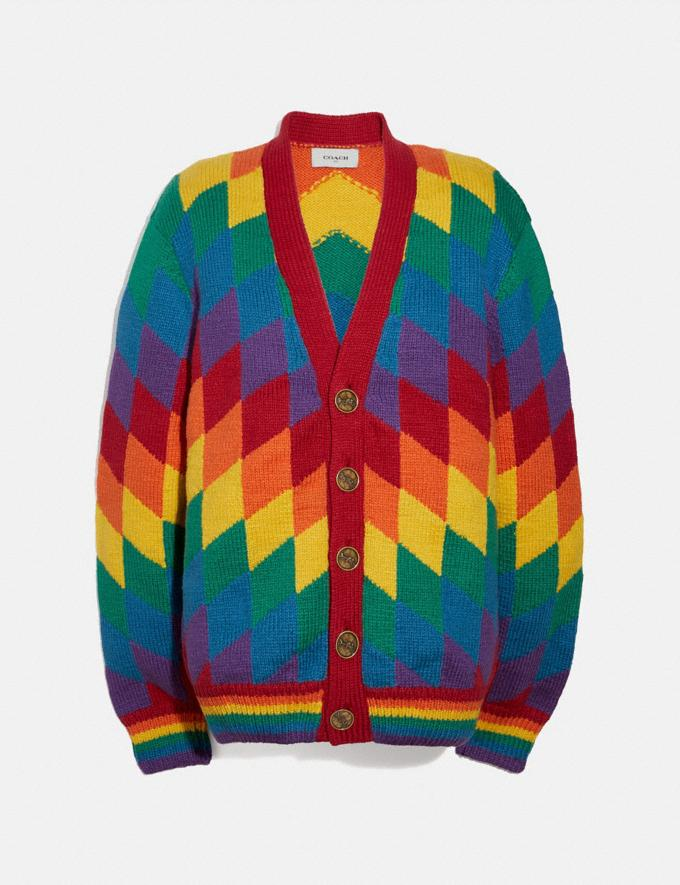 Coach Rainbow Cardigan Multi Men Ready-to-Wear