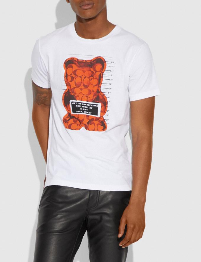 Coach Vandal Gummy Coach Edition T-Shirt White SALE Men's Sale Ready-to-Wear Alternate View 1