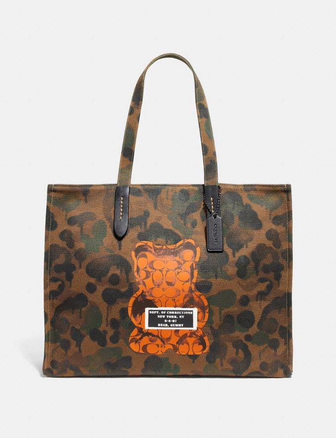 Coach Vandal Gummy Coach Edition Tote 42 Military Wild Beast/Black Copper New Featured Signature Remix