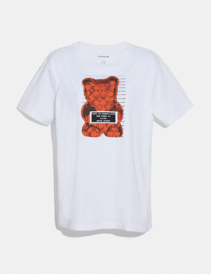 Coach Vandal Gummy Coach Edition T-Shirt White New Featured Signature Remix