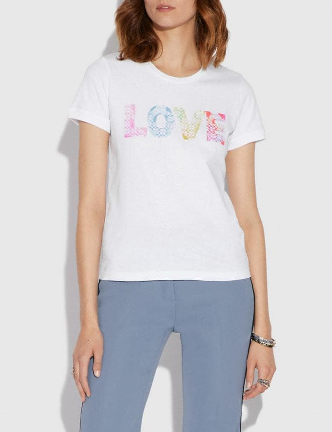 Coach Love by Jason Naylor T-Shirt White  Alternate View 1