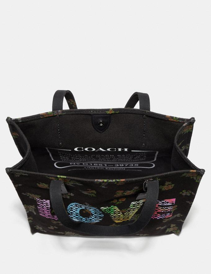 Coach Love by Jason Naylor Tote Black/Black Copper New Featured Signature Remix Alternate View 2