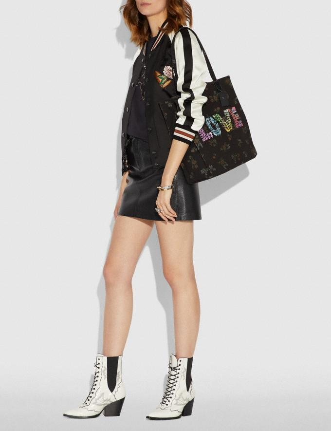Coach Love by Jason Naylor Tote Black/Black Copper New Featured Signature Remix Alternate View 3