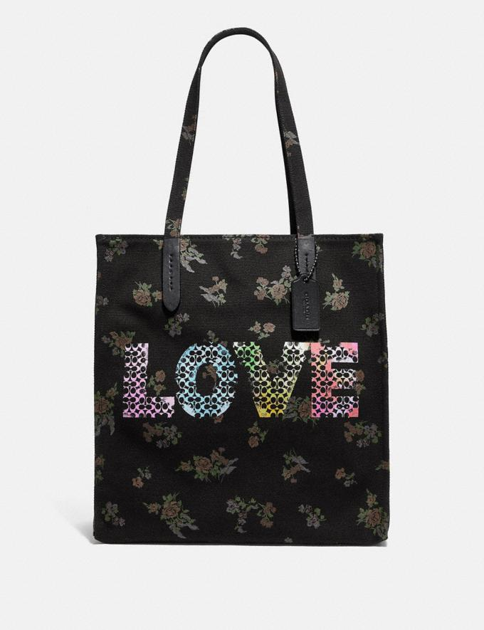 Coach Love by Jason Naylor Tote Black/Black Copper New Featured Signature Remix