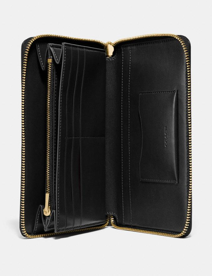 Coach Continental Wallet Black/Gold Gifts For Her Bestsellers Alternate View 1