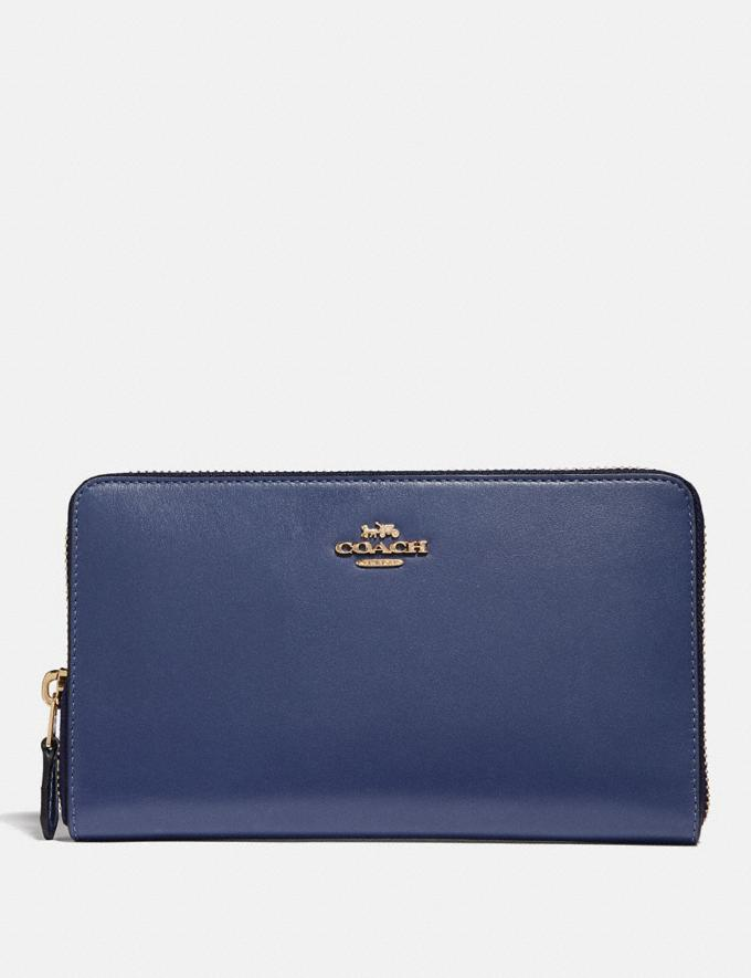 Coach Continental Wallet Black/Gold SALE 30% off Select Full-Price Styles Women's