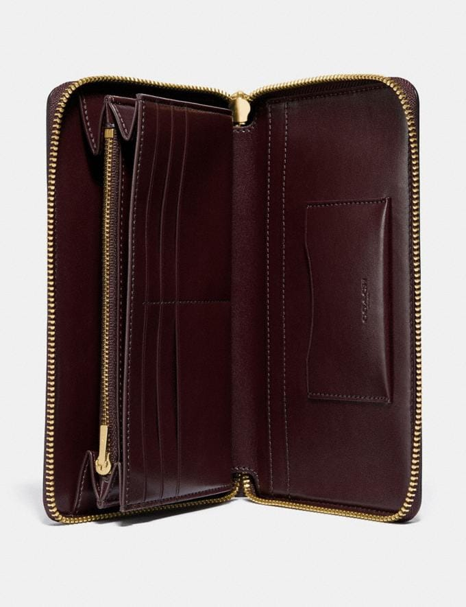Coach Continental Wallet Oxblood/Gold New Featured Online Exclusives Alternate View 1