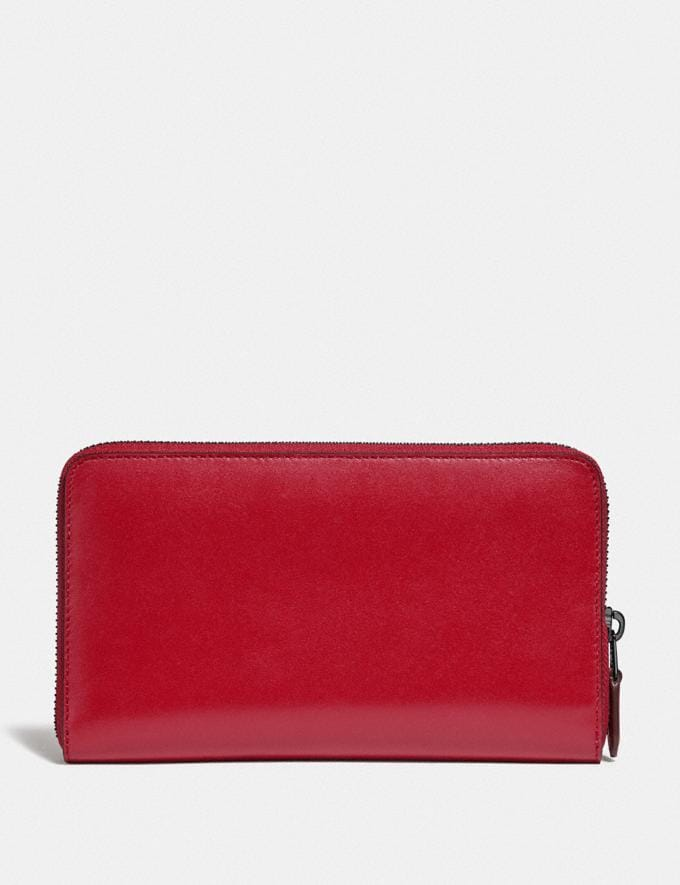 Coach Continental Wallet Gunmetal/Red Apple Gifts For Her Alternate View 1