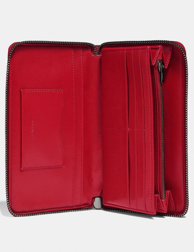 Coach Continental Wallet Gunmetal/Red Apple New Featured Online Exclusives Alternate View 2