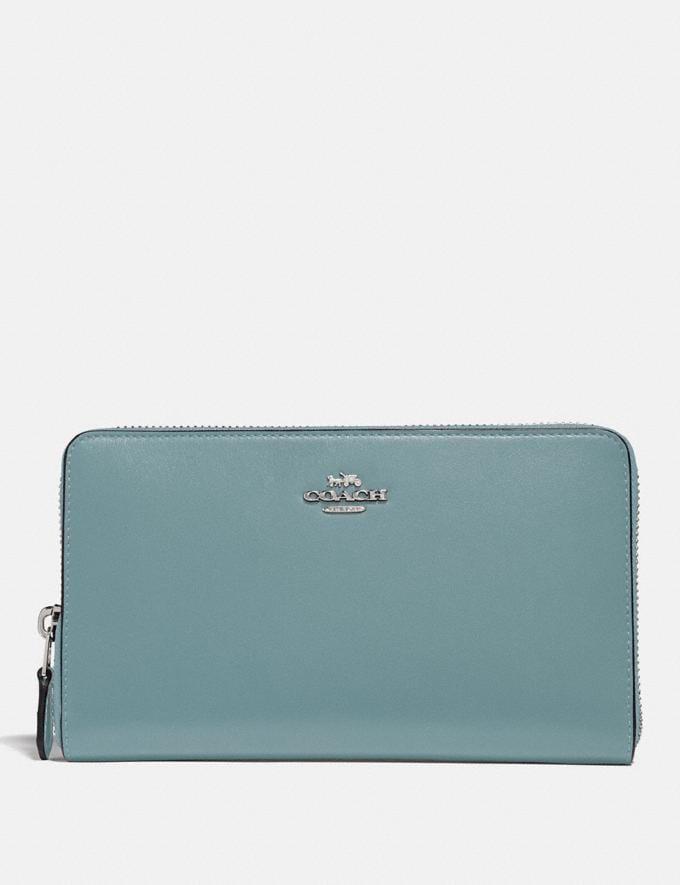 Coach Continental Wallet Sage/Silver Gifts For Her