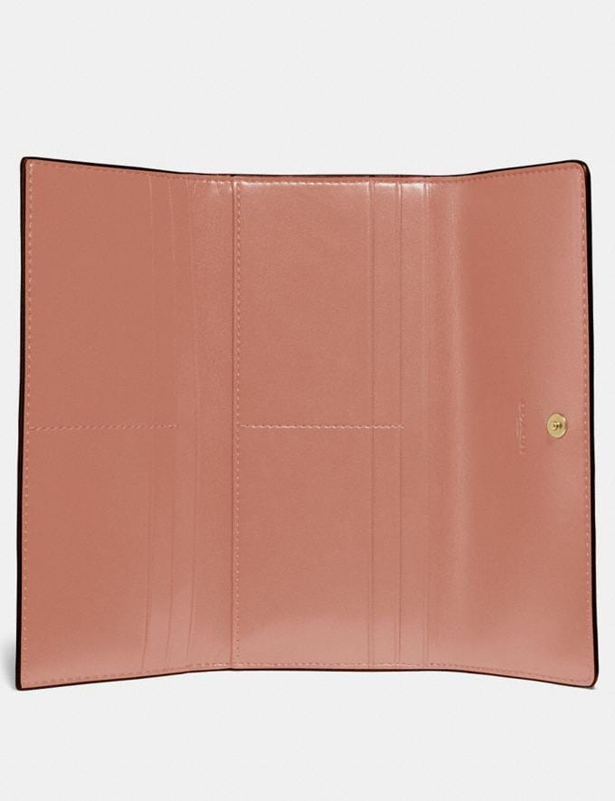 Coach Soft Trifold Wallet Light Peach/Gold Gifts For Her Alternate View 1