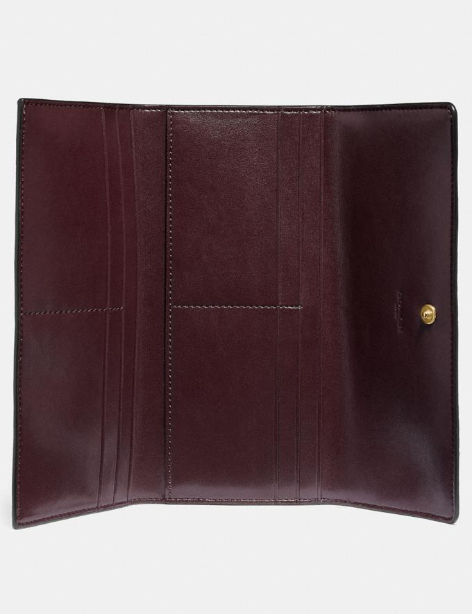 Coach Soft Trifold Wallet Oxblood/Gold New Women's New Arrivals Wallets & Wristlets Alternate View 1