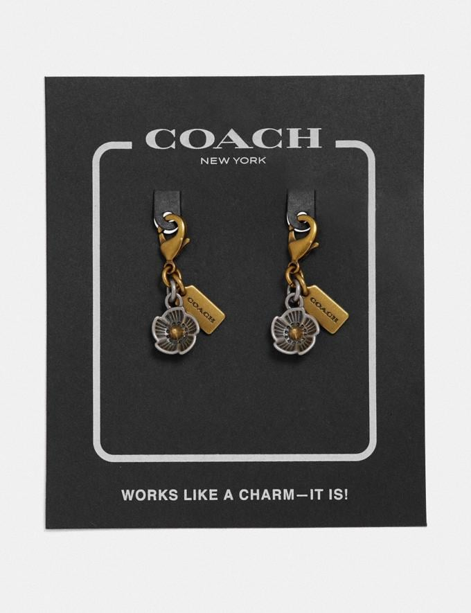Coach Tea Rose Shoe Charm Gold/Silver