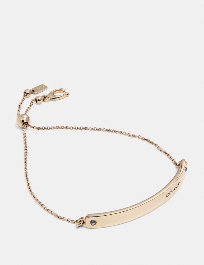 Coach Bar Slider Bracelet Gold Gifts For Her