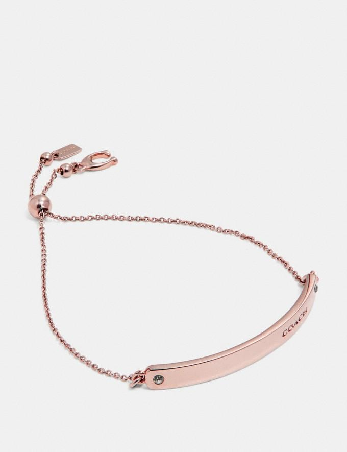 Coach Bar Slider Bracelet Rose Gold New Women's New Arrivals Accessories