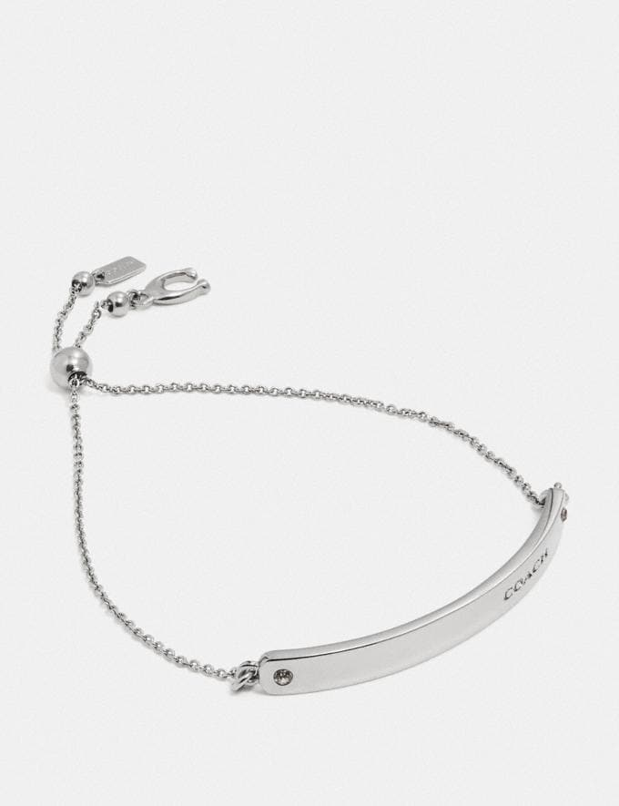Coach Bar Slider Bracelet Silver Gift For Her Under €100