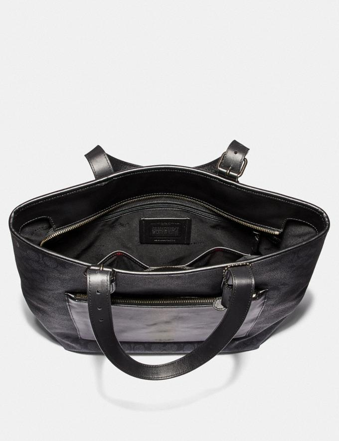 Coach Metropolitan Soft Tote in Signature Canvas Charcoal/Black Antique Nickel New Men's New Arrivals Bags Alternate View 2