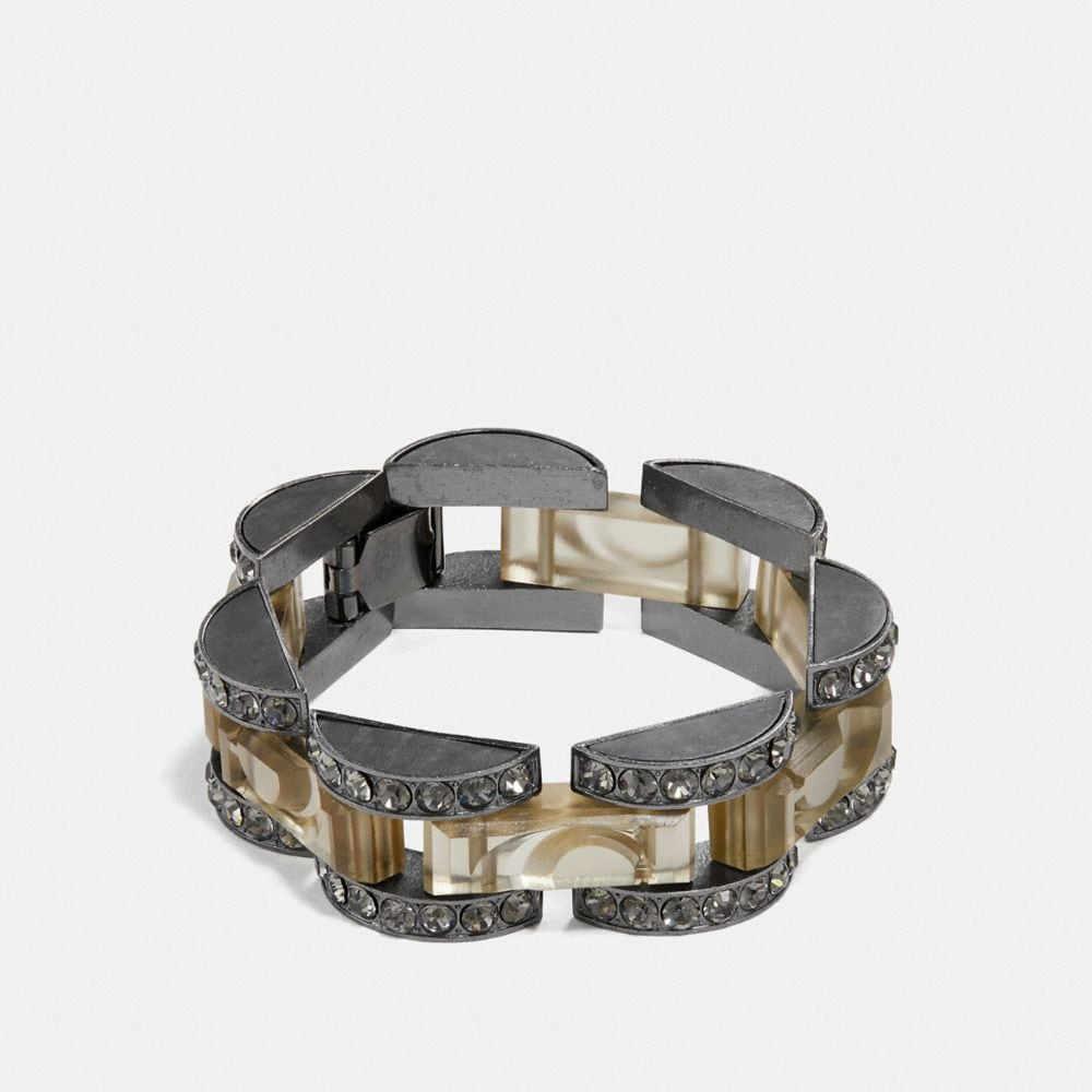 Coach Cut Glass Link Bracelet