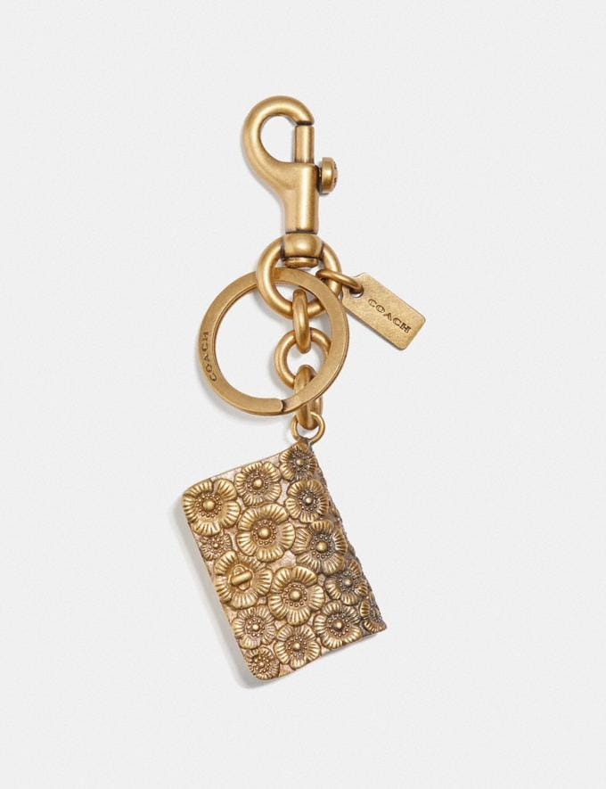 Coach Dinky Mirror Bag Charm Brass/Brass Women Accessories Bag Accessories & Keyholders