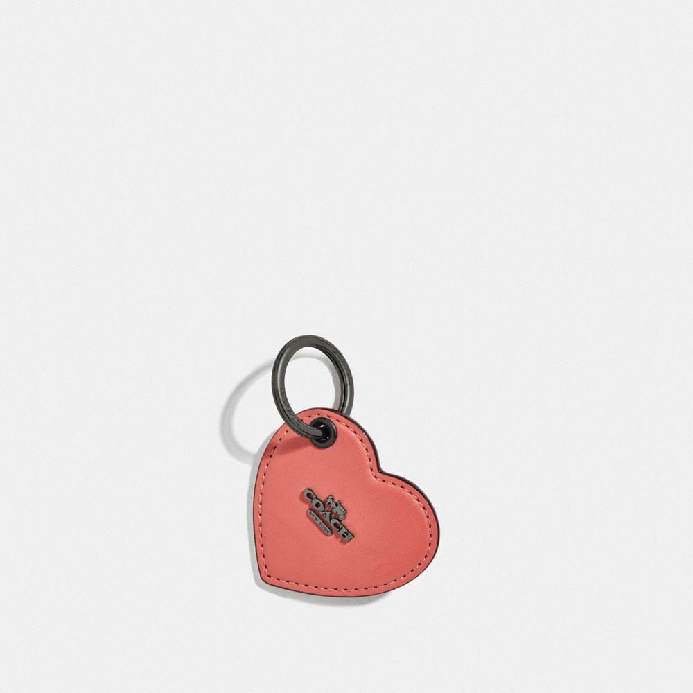 Coach Heart Tab Key Ring
