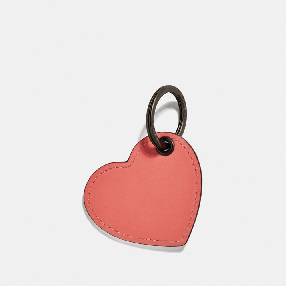 Coach Heart Tab Key Ring Alternate View 1