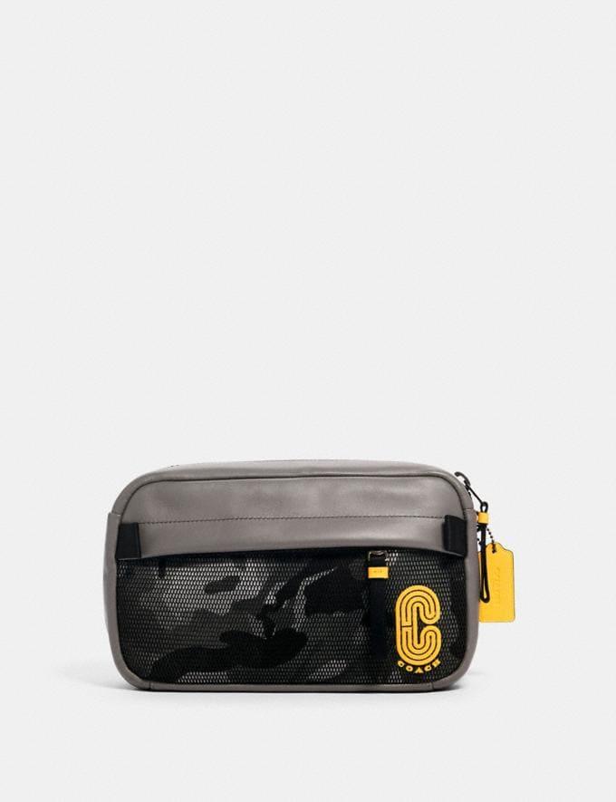 Coach Edge Belt Bag With Camo Print Qb/Black Multi