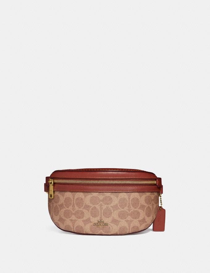 Coach Belt Bag in Signature Canvas Tan/Rust/Brass Gifts For Her Bestsellers