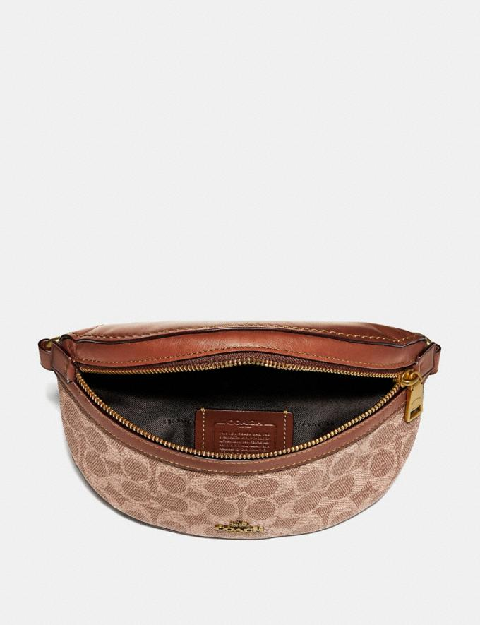Coach Belt Bag in Signature Canvas Tan/Rust/Brass Gifts For Her Bestsellers Alternate View 2