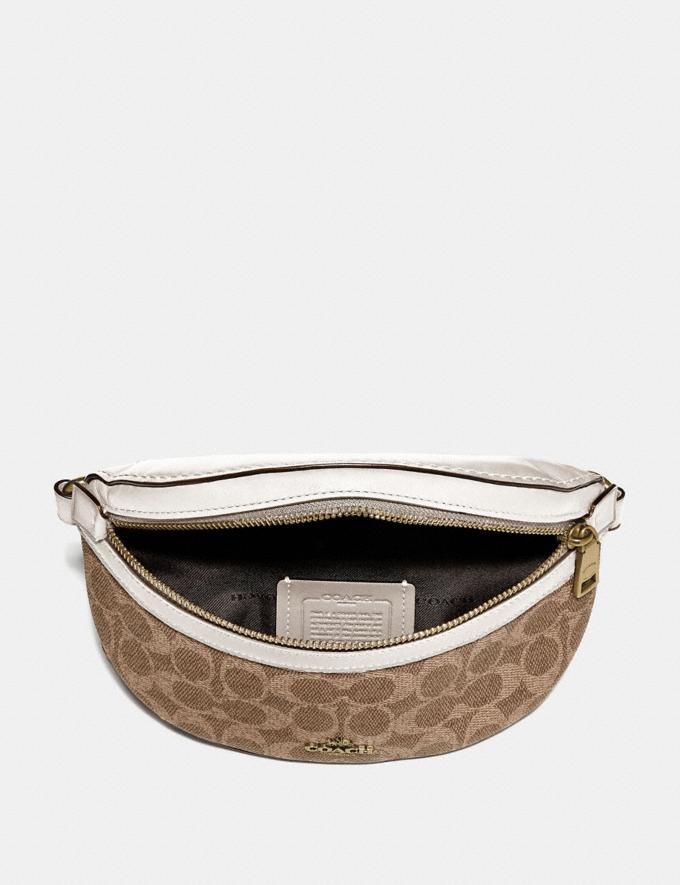 Coach Belt Bag in Signature Canvas Brass/Tan Chalk Women Handbags Belt Bags Alternate View 2