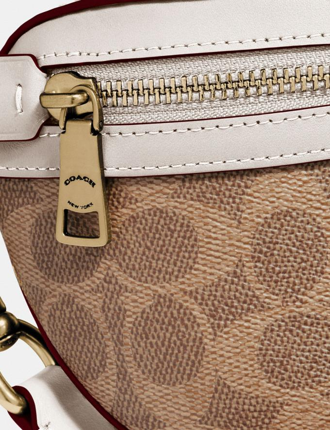 Coach Belt Bag in Signature Canvas Brass/Tan Chalk Women Bags Belt Bags Alternate View 5