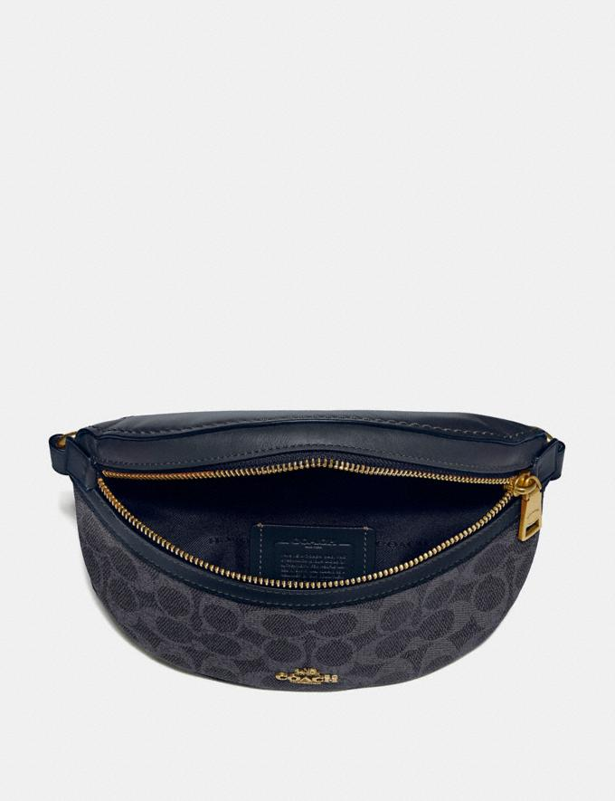 Coach Belt Bag in Signature Canvas Charcoal/Midnight Navy/Gold Women Handbags Belt Bags Alternate View 2