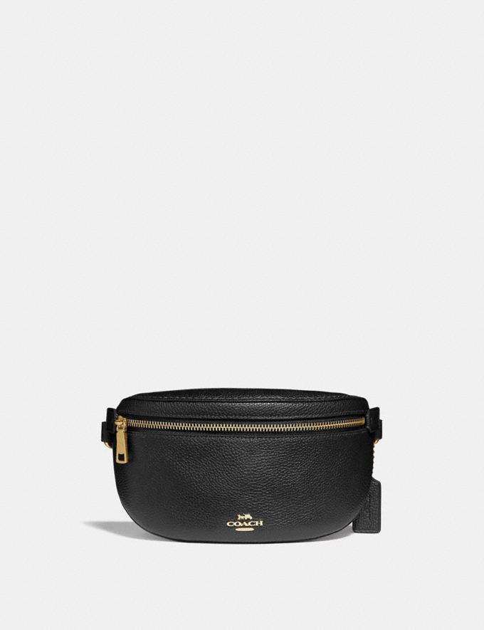 Coach Belt Bag Black/Gold Women Bags Belt Bags