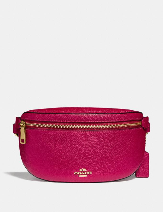 Coach Belt Bag Bright Cherry/Gold Gifts For Her