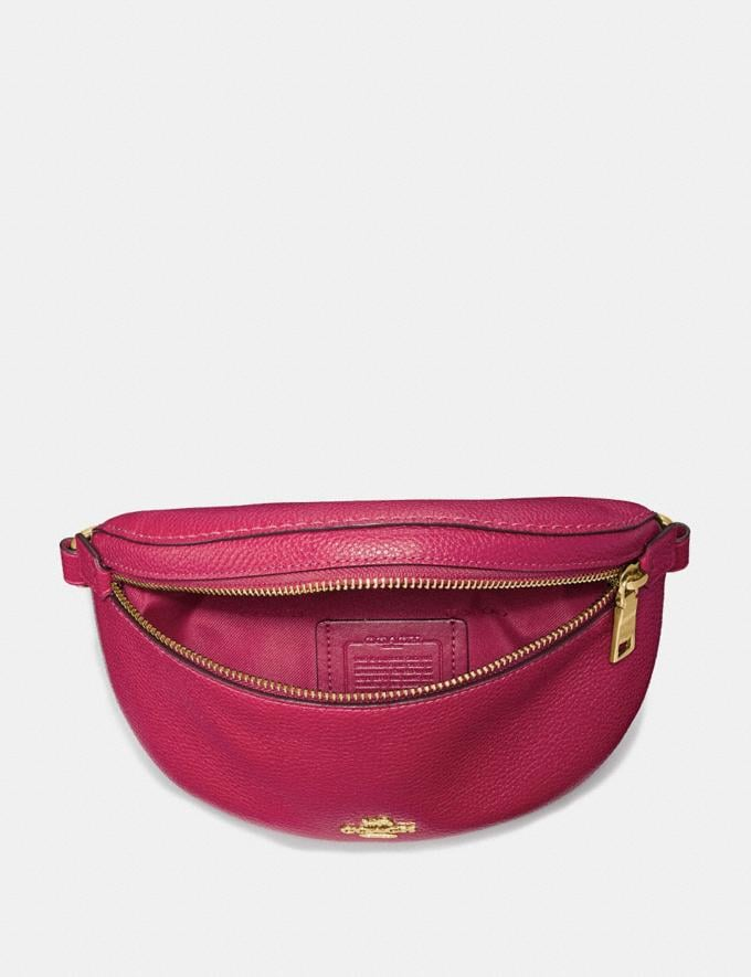 Coach Belt Bag Bright Cherry/Gold Gifts For Her Alternate View 2