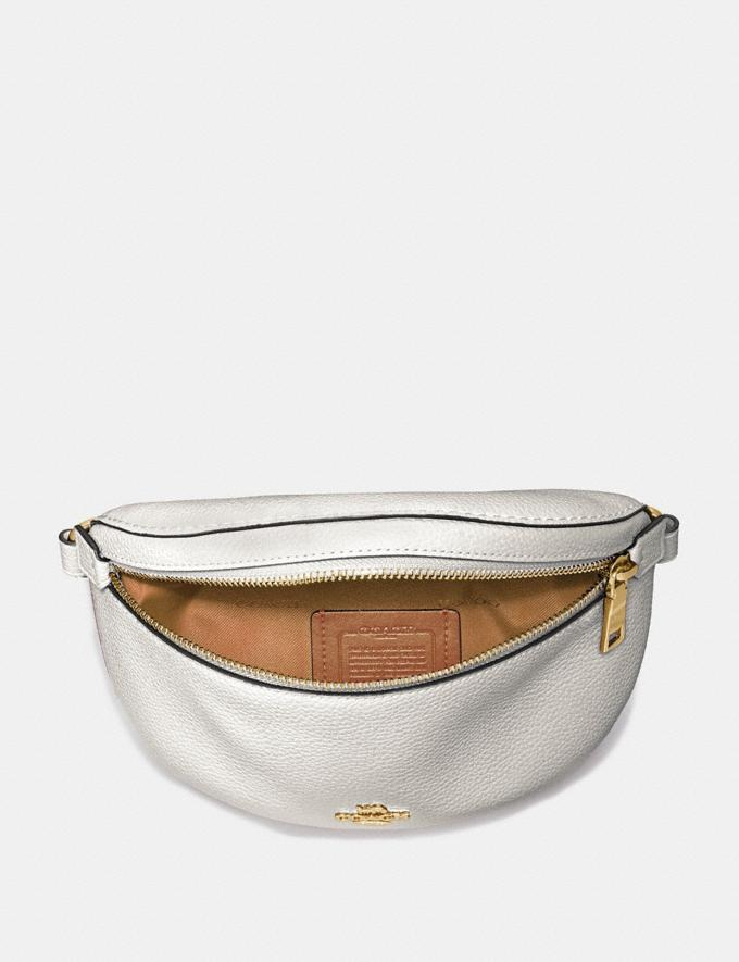 Coach Belt Bag Chalk/Gold Gifts For Her Alternate View 2
