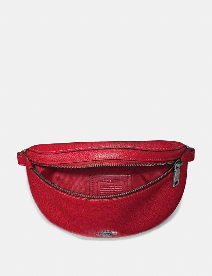 Coach Belt Bag Gunmetal/Red Apple Women Bags Belt Bags Alternate View 2