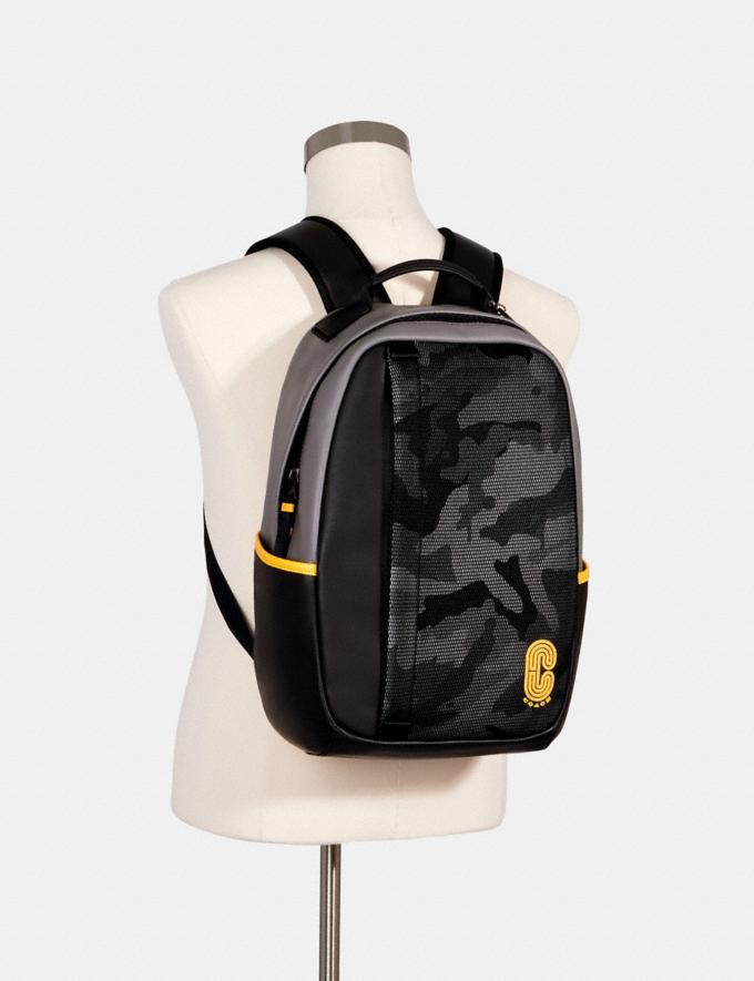 Coach Edge Backpack With Camo Print Qb/Black Multi Men Alternate View 2