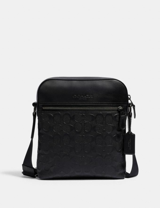 Coach Houston Flight Bag in Signature Leather Qb/Black DEFAULT_CATEGORY