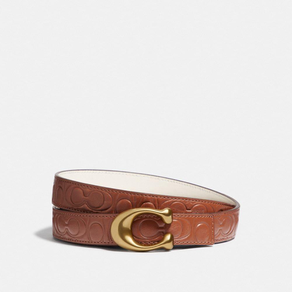 Coach Sculpted Signature Reversible Belt in Signature Leather
