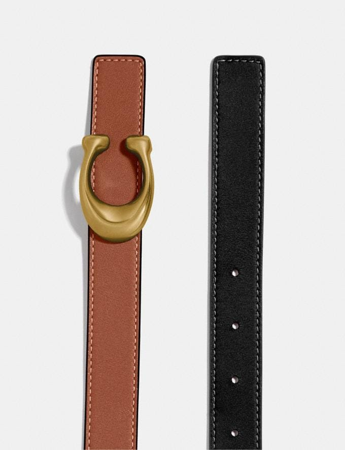Coach Sculpted Signature Reversible Belt B4/Black 1941 Saddle Men Accessories Belts Alternate View 1