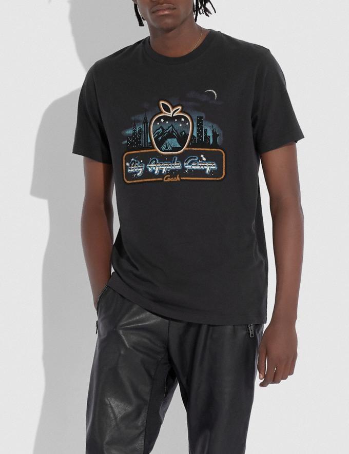 Coach Skyline Big Apple Camp T-Shirt Black Men Ready-to-Wear Tops & Bottoms Alternate View 1