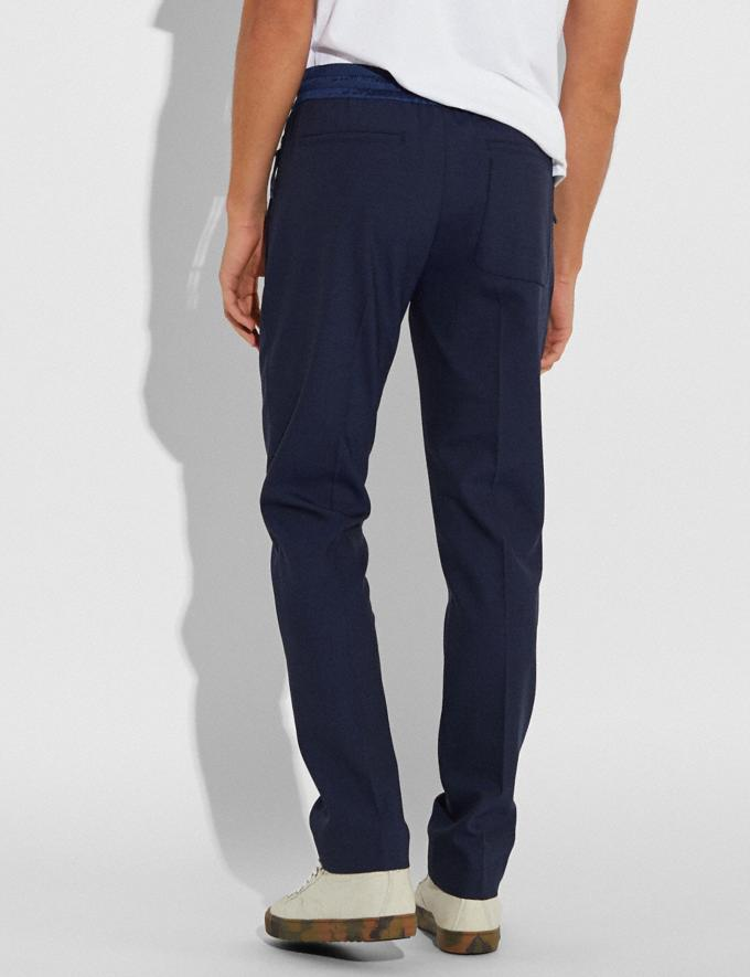 Coach Pleated Pants Navy Men Ready-to-Wear Tops & Bottoms Alternate View 2