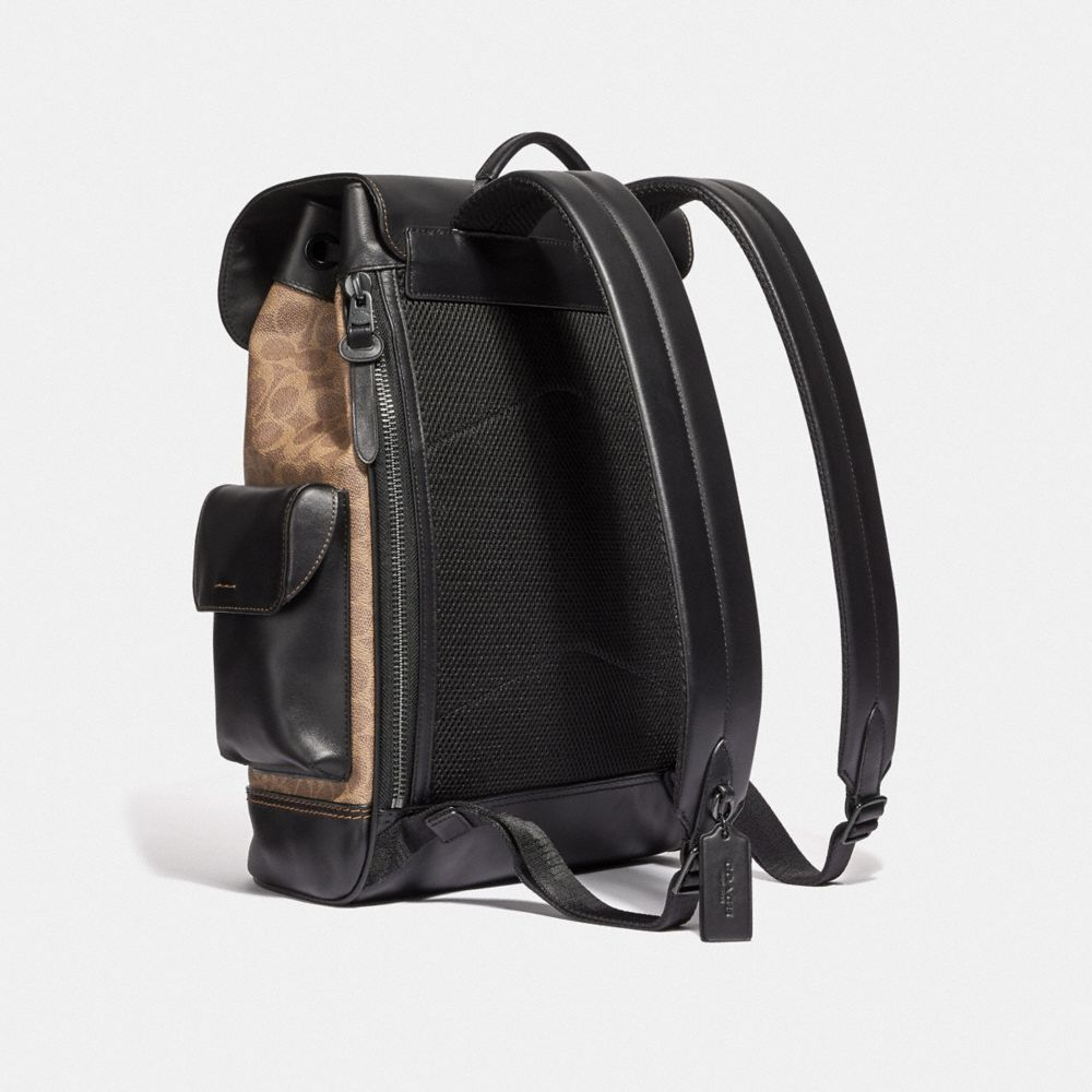 Coach Rivington Backpack in Signature Canvas Alternate View 1